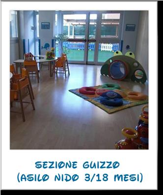 Sezione Guizzo (asilo nido 3/18 mesi)
